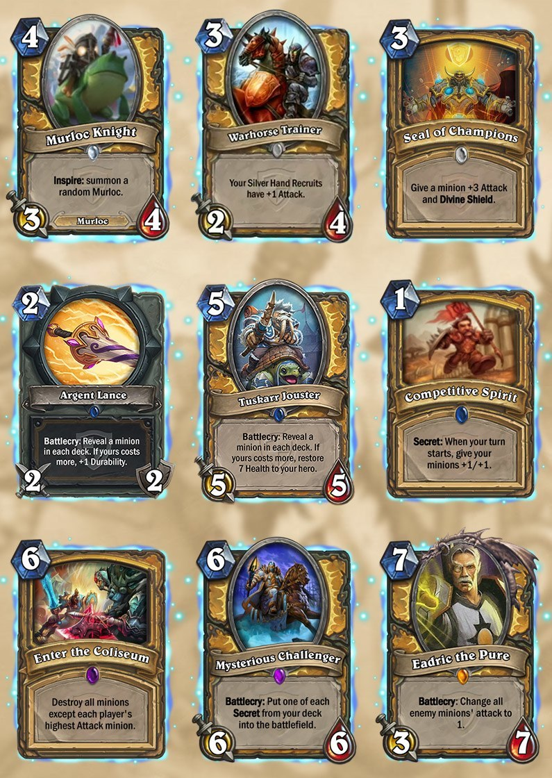 paladin grand tournament cards