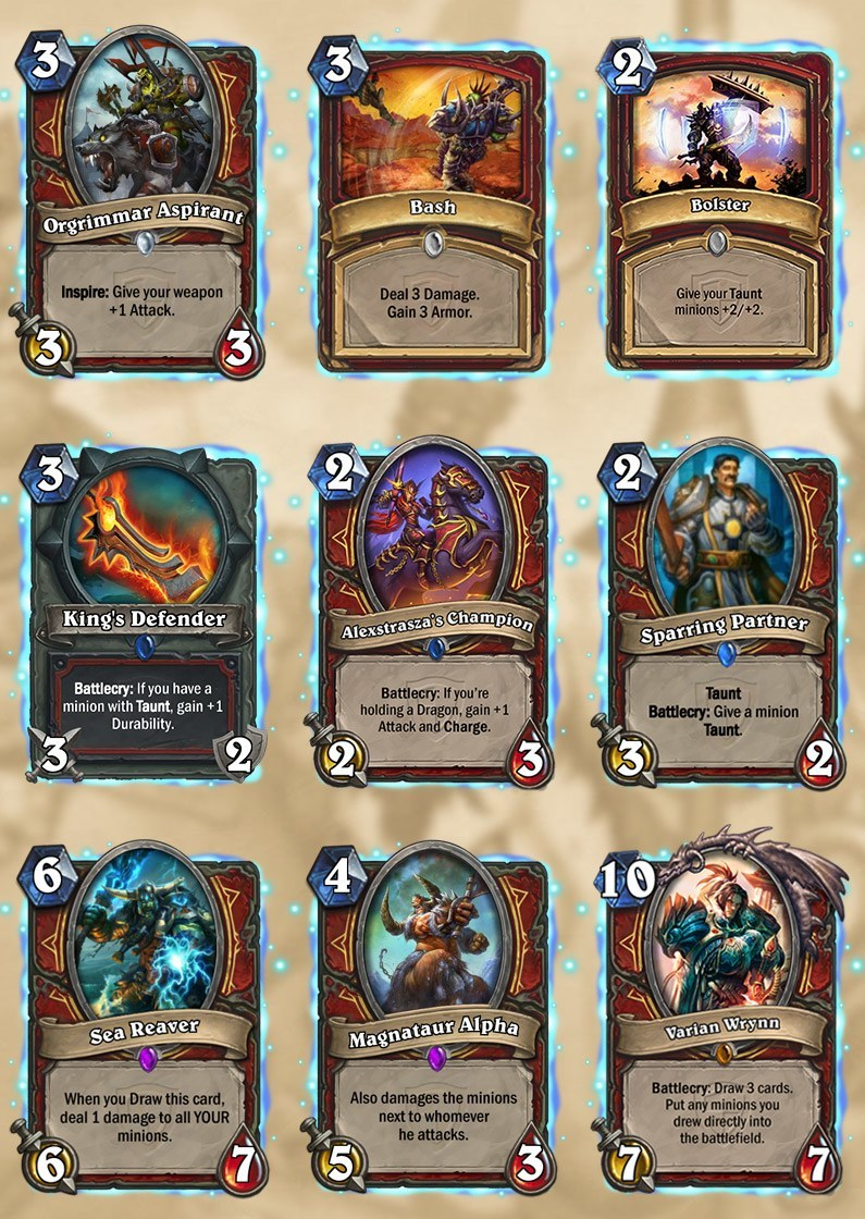 warrior tgt cards