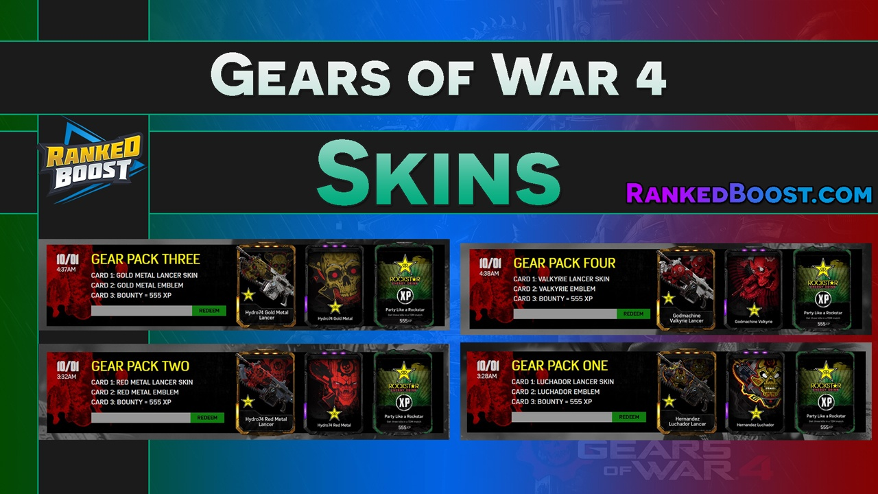 Exclusive & Pre-Order GoW 4 Skin