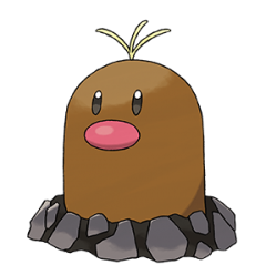 Alolan Diglett Pokemon Sun and Moon