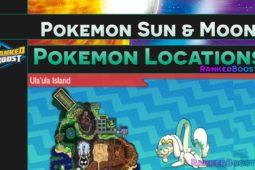 Pokemon Sun and Moon Pokemon Locations