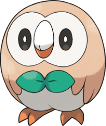 Rowlet Pokemon Sun and Moon