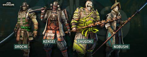 For Honor Samurai Heroes