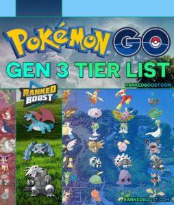 Pokemon GO Generation 3 Tier List | Best Gen 3 Pokemon