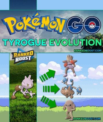 pokemon go tyrogue evolution trick hitmonlee hitmontop