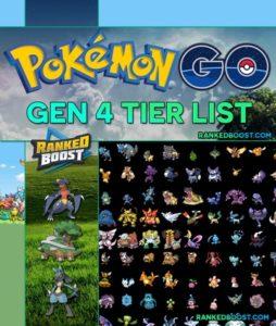 Pokemon GO Generation 4 Tier List | Best Gen 4 Pokemon