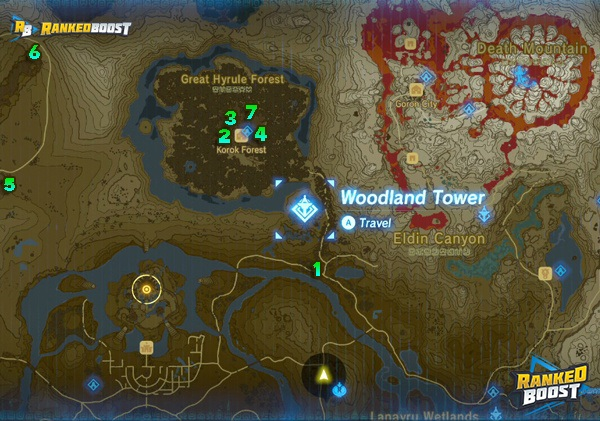 Zelda Breath Of The Wild Shrine Locations Breath Of The